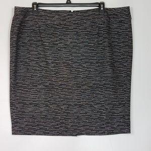 Lane Bryant Pencil Skirt Black  Size 24  L04